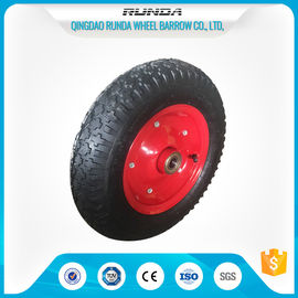 China Carbon Steel Pneumatic Rubber Wheels Ball Bearing , Pneumatic Wagon Wheels OEM supplier
