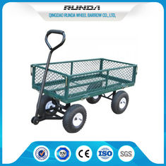 China Anti UV Color Heavy Duty Yard Cart / Wagon Cart 400 Lb Folding Removable Sides supplier
