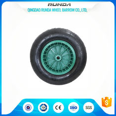 China 75mm Hub Length Pneumatic Wagon Wheels PP RIM Bush Bearing Straight Valves supplier