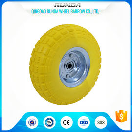 "China Flat Free Wpolyurethane Caster Wheels 10"" Offset Hub 55mm Hub No Peculiar Smell supplier"
