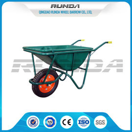 China 5CBF Heavy Duty Wheelbarrow WB2204 Green Color Japan Model 0.6mm Tray Thickness supplier