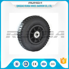China Plastic Rim Pneumatic Rubber Wheels SGS , 8 Inch Pneumatic Wheels For Trolleys supplier