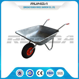 China Industrail Heavy Duty Wheelbarrow 7 CUB , Garden Wheel Cart Galvanized Color supplier