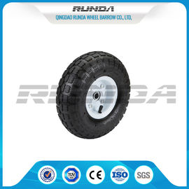 China Comb Pattern 10 Inch Pneumatic Wheels Large Friction Against Tire Skidding supplier