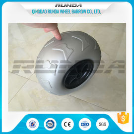 China 9 Inch Pneumatic Rubber Wheels PP Rim , Balloon Hand Truck Wheels Without Bearing supplier