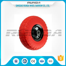 China Tool Cart PU Foam Wheel Offset Hub , PU Trolley heels 136kg Max Loading supplier