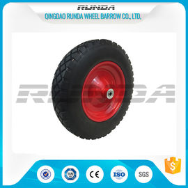 China Anti Slip Foam Filled Wheelbarrow Tires 20mm Inner Hole Steel Rim Smooth Bearing supplier