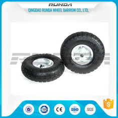 China Galvanized Color Pneumatic Rubber Wheels Steel Rim Ball Bearing 55mm Hub 3.50-4 supplier
