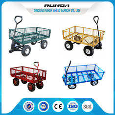 China 1000lbs Load Capacity Garden Trolley Cart / Wagon Cart Hinged Drop Sides TUV supplier