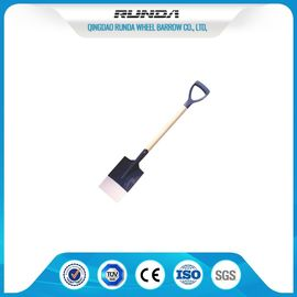 China Wooden Handle Steel Spade Shovel S512 , Hole Digging Spade Flat Nose Multi Colors supplier