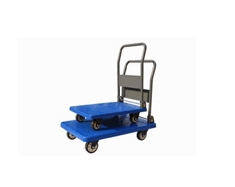 China Four Wheel Platform Hand Truck , Heavy Duty Platform Cart / Truck Non Slip Surface supplier