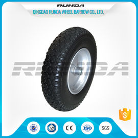 China Durable Heavy Duty Rubber Wheels 4.00-8 , Industrial Trolley Wheels Diamond Patter supplier