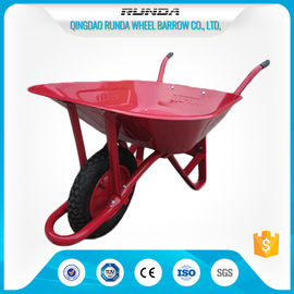 China Steel Tray Heavy Duty Wheelbarrow , County Clipper Wheelbarrow 65L Water Capacity supplier