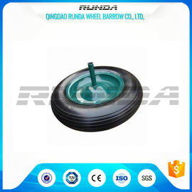 China Square Pattern PU Foam Wheel 100-200KG Load , Hand Dolly Wheels 4.00-8 Solid Axle supplier