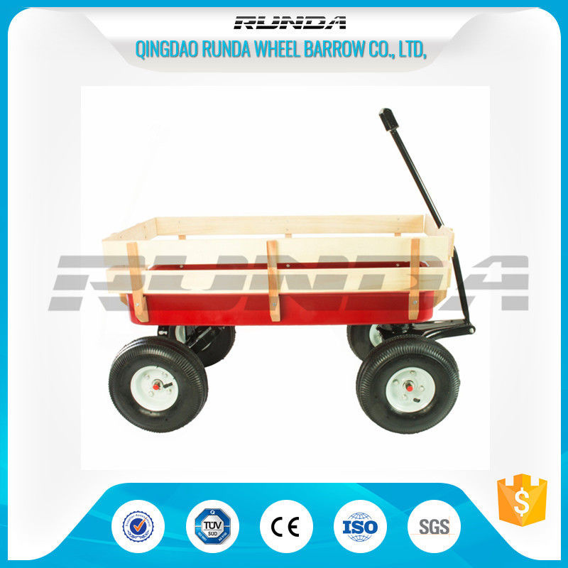 Various Colors Garden Utility Cart Wagon Steel Mesh Bed