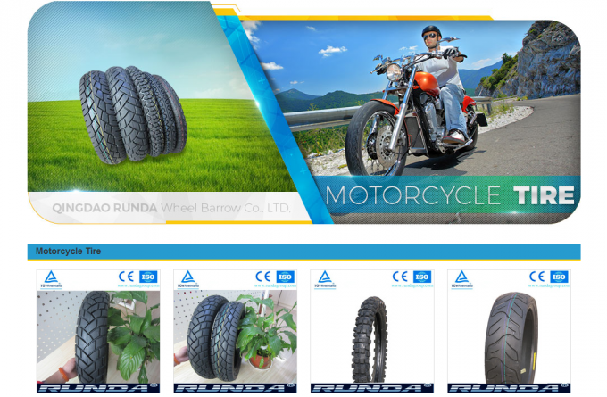 Natural Rubber Motor Cycle Tires 3.00-10 Rib Pattern 290KPA OEM Avaliable