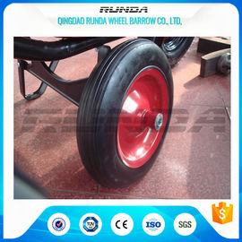 "China Centered Hub Heavy Duty Pneumatic Wheels 14""X4"" Ball Bearing For Air Compressor factory"