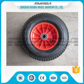 China PP Rim Heavy Duty Rubber Wheels Red Color , 2PR All Terrain Caster Wheels OEM factory