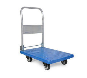 Rubber Wheel Platform Hand Truck 880mm Height Handle Grip 150Kgs Max Capacity