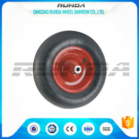 China Abrasion Resistant Heavy Duty Rubber Wheels , 4PR Heavy Duty Wheels For Trolleys  factory
