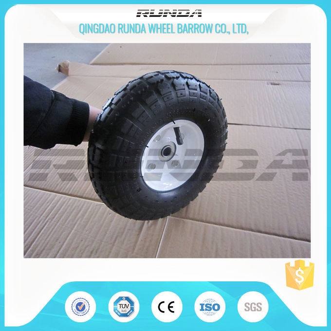 Comb Pattern 10 Inch Pneumatic Wheels Large Friction Against Tire Skidding